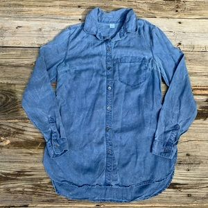 Old Navy | Boyfriend Fit Chambray Button Shirt XS